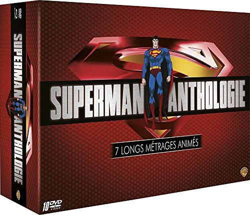 Superman Anthology - Animation Collection - 10-DVD Box Set ( Superman/Batman: Apocalypse & Public Enemies / Unbound / Superman vs. Elite / L [ Origen Francés, Ningun Idioma Espanol ]