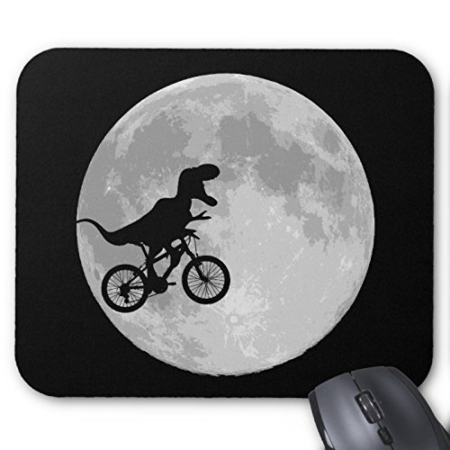 URDesigner Mousepad Dinosaur On A Bike In Sky With Moon Mouse Pad Desktop Mousepad Laptop Mousepads Comfortable Table Desk Computer Mouse Mat Cute Gaming Mouse Pad