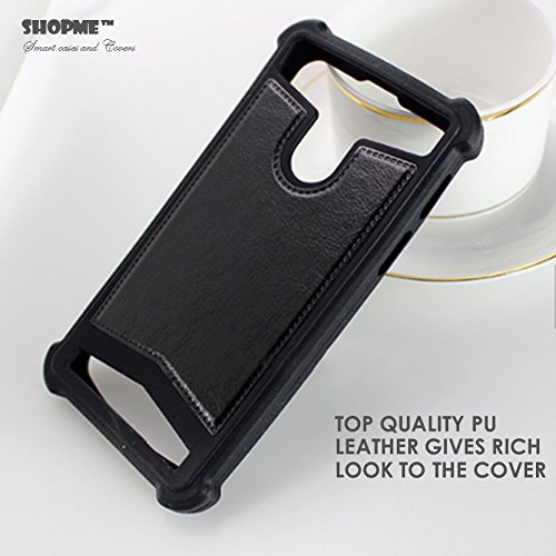 Shopme Shock Proof Premium PU Leather Back cover for Karbonn Titanium S5 Ultra (Shock Proof Bumpers on 4 sides, Premium PU leather back cover, Latest Design)  available at amazon for Rs.239