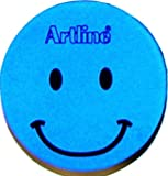 Artline Magnetic Smiley Face Circular Whiteboard Eraser - Blue