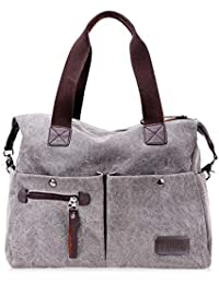 e2779957b08df Nlyefa Damen Canvas Handtasche Umhängetasche große Schultertasche  Henkeltasche Canvas Tasche
