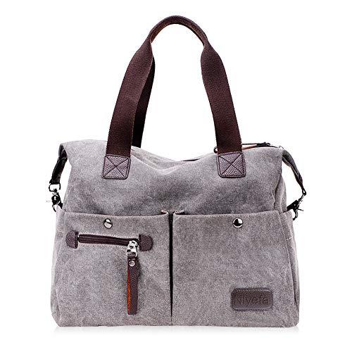 Nlyefa Damen Canvas Handtasche/Umhängetasche große Damentasche Henkeltasche Canvas Tasche, EINWEG