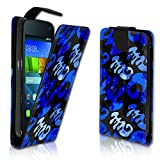 wicostar Vertikal Flip Style Handy Tasche Case Schutz Hülle Schale Motiv Etui Karte Halter für Wiko Rainbow Jam - Variante VER22 Design4