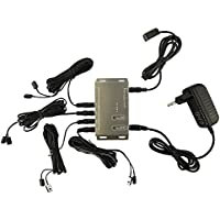 Gamut-Tek Infrarotverlaengerung telecomando a infrarossi Extender Kit ripetitore 8 faretti per 8 dispositivi, ottenere 8 yd range, 1,5 metri ricevitore IR, 3 metri IR emettitore, uscita 12VDC / 1A