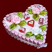 Herz Torte aus Schokolade Yogurette, Muttertag, Vatertag, Pralinen-Blumen-Strauß, Geburtstagsgeschenke, Hochzeit