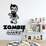 BailongXiao Adesivo murale Materiale Zombie Decalcomania Soggiorno Adesivi murali Camera dei Bambini Arte murale 28X39cm
