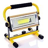 ALFLASH 7000LM 100W LED Baustrahler IP65 Wasserdicht Fluter Arbeitsleuchte handlampe Tragbare Werkstattlampe Strahler Wiederaufladbare Flutlicht Arbeitsleuchte für Arbeiten, Autoreparatur