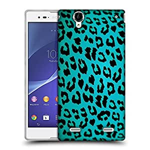Snoogg Blue Chetah Designer Protective Back Case Cover For SONY XPERIA T2 ULTRA