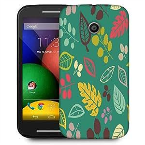 Snoogg Blue Pattern Designer Protective Phone Back Case Cover For Motorola E2 / MOTO E22