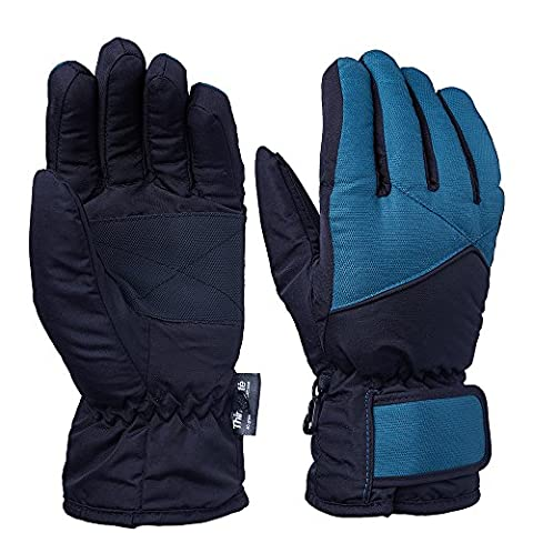 OZERO Skiing Gloves, -20ºF Cold Proof Winter Thermal Ski Gloves for Women & Girl - Reinforced PU Palm and TR Cotton Insert - Water Resistant & Windproof -