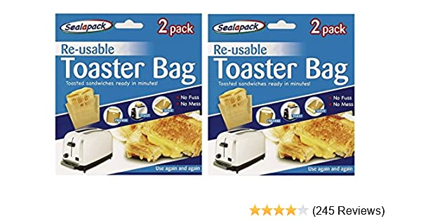 2Pcs Non-Stick Sandwich Toaster Toast Bags Pockets Reusable Heat-Resistant Home