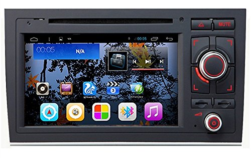 Preisvergleich Produktbild Gowe Android 4.4.4Quad Core 1024* 600GPS Navigation 17,8cm Auto-DVD-Player für Audi A42001–2008mit Bluetooth/RDS/Canbus/SWC/Mirrorlink