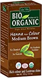 Indus Valley Bio Organic Henna Tinte para el cabello Mediano marrón 100% Triple tamizado Microfine Polvo (Medium Brown)