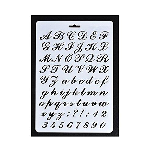 Schriftschablone Buchstabe Alphabet Schablonen Malen Papier Craft Nummer Schriftzug #3 (Papier-buchstaben-alphabet)