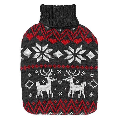 Savlot Christmas Decores Knitter Cubiertas para botellas de agua caliente con Christmas Winter Warmmware