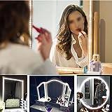 LED Lichtstreifen, 13ft SMD 240 LED Strip Bar Schminkspiegel Makeup Lampe Flexible Lichtleiste Kit DIY - Kopfteil Schrank Make Up Zähler Spiegel(Weiß)