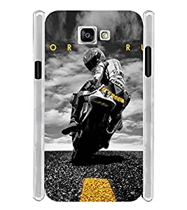 Sports Bike Soft Silicon Rubberized Back Case Cover for Samsung Galaxy A5 2016 Edition