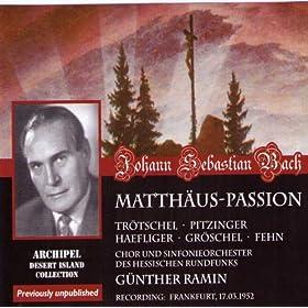 Matth�us-Passion : Part II - n66, Aria, Komm, s�es Kreuz