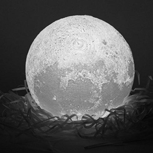 Novel 3D Full Moon-Shaped LED-Licht Magical Indoor Schlafzimmer Lesen Lunar Lamp (Farbe: weiß, gelb) (Größe: 8 * 8 * 8cm)