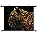 Wallscrolls-Wonderland Gepart Cheetah Stoffposter Plakat Tapete Rollbild Dekoration Geschenk 60x40CM