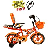 Speed Bird 12-T Robust Double Seat Biycles Baby Cycle For Boy & Girl Age Grope 2-5 Years (Orange)