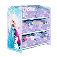 Disney Frozen Kids Bedroom Storage Unit with 6 Bins by HelloHome