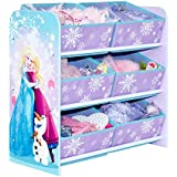 Disney Frozen Kids Bedroom Storage Unit with 6 Bins by HelloHome