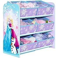 Preisvergleich für Die Eiskönigin - Regal zur Spielzeugaufbewahrung mit sechs Kisten für Kinder