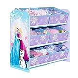 Die Eiskönigin - Regal zur Spielzeugaufbewahrung mit sechs Kisten für Kinder