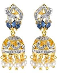Tistabene Retails Contemporary American Diamond Fashion Jewellery Jhumka Jhumki Earring For Girls & Women (ER-...