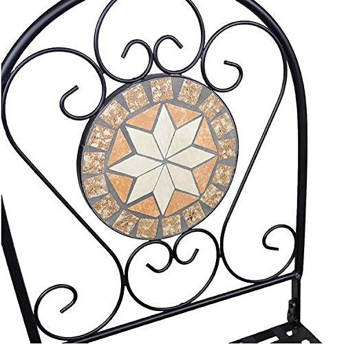 Bistro-Set Balkon-Set Eisen Mosaik Klappbar - 3