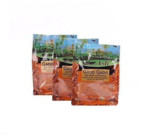 3 x 200g Asli Gado Gado Erdnuss Sauce Sate Satay Saté Erdnusssauce Pamai Pai®