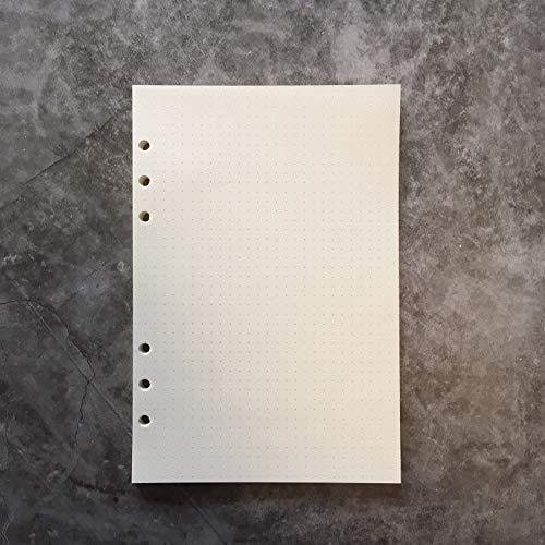 Dotted Refill Papier für 21,6cm 6-holes A5, rund-Ring-Binder Datei Ordner 3 A5dotted (Trennwände Für 3-ring Binder)