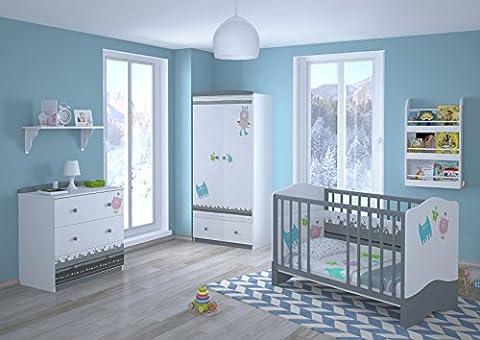 Polini Kids Babyzimmer Kinderzimmer komplett Set L Basic Modell Monsters