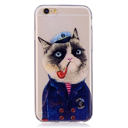 """Coque pour Apple iPhone 6S / 6 , IJIA Transparent Cool Chat TPU Doux Silicone Bumper Case Cover Shell Housse Etui pour Apple iPhone 6S / 6 (4.7"""") WL2"""
