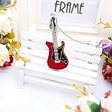 NINUO 64GB USB Stick Gitarre Externer Speicherstick Halskette Geschenkset USB 2.0 Flash Drive für Windows PC (64GB, Rot)