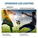 VANKYO LEISURE 3 (Upgraded Version) 2200 lumens Portable Projector with Carrying Bag, Video Projector with 170 Display and 1080P Support, Compatible with Fire TV Stick, PS4 with HDMI Cable (White)