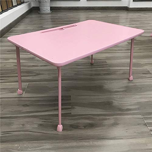 FEIYAN HOME Klappbares Großes Bett des Computertisches Mit Emaille-Tischkindern Mit Kleinem Tisch Mit Kartenschlitz (Color : Pink)