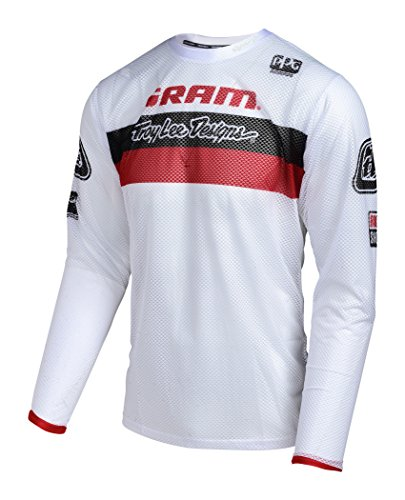 Troy Lee Designs Sprint Air SRAM TLD Long Sleeve Jersey Men Racing red/white 2017 Long Sleeve Cycling Jersey