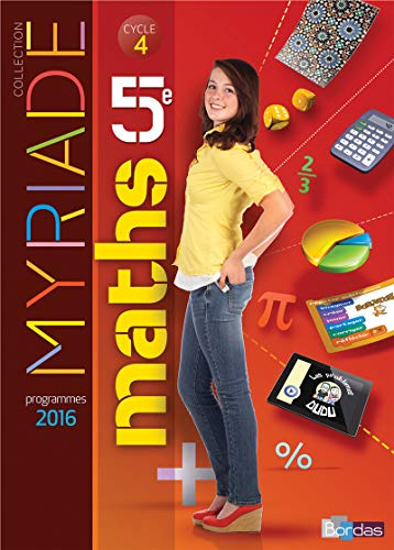 Myriade 5e - Manuel élève - Grand Format (Éd. 2016) - Nouveau programme 2016