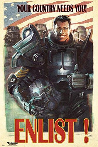 Poster Fallout 4 'Enlist! Your Country Needs You!/ Arruolati! Il tuo paese necessita di te' (61cm x 91,5cm)