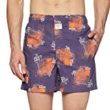 United Colors of Benetton UCB Men's Printed Boxers (353DI913_Navy_M)