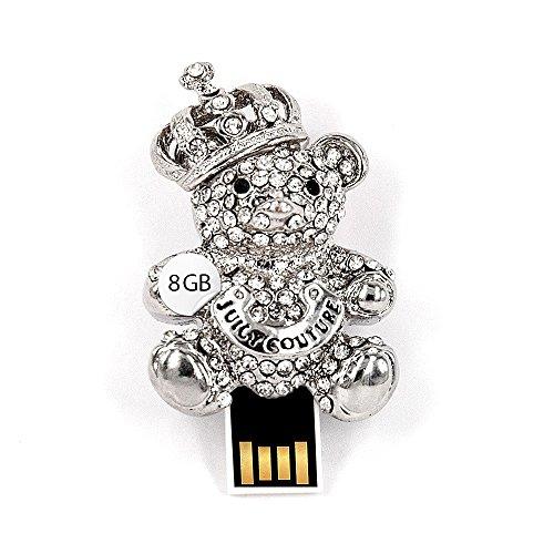 USB Stick 8 GB Bär Anhänger Strass King