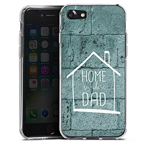Apple iPhone X Silikon Hülle Case Schutzhülle Vatertag Dad Papa Silikon Case transparent