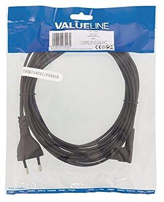 Valueline vlep1 1045b50 Câble d'alimentation avec Prise Euro de – IEC 320 C7 coudé Noir 5 m par Valueline