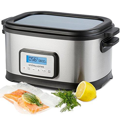 Andrew James 8,5 Liter Premium Sous Vide Wasserbad-Kocher - Inklusive Ablage und Zange - 6 Liter große Kapazität