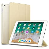 #10: Robustrion Smart Slim Series Trifold Hard Back Flip Stand Case Cover for New iPad 9.7 inch 2018/2017 5th 6th Generation Model A1822 A1823 A1893 A1954 - Gold