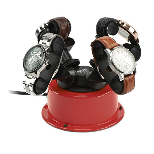 MTE Uhrenbeweger WTS 4 POP RED für bis zu 4 große Uhren