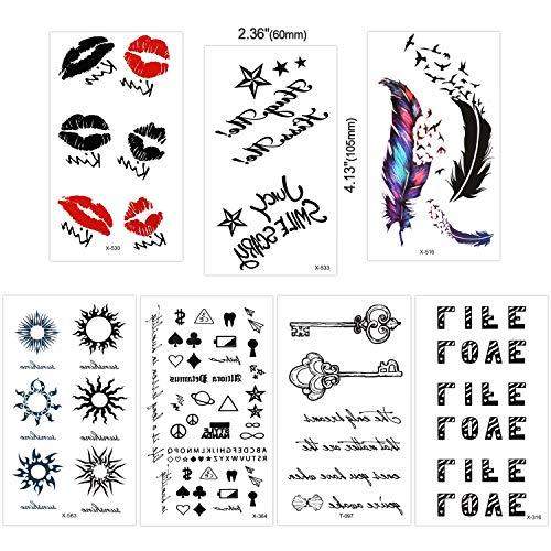 30 Blätter Tätowierung Schwarz Tattoo Body Art Kleine Blätter Tattoo Aufkleber Fake Arm Tattoos Aufkleber für Männer Frauen