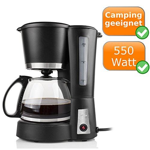 Kleine Kaffeemaschine - Single / Filter-Kaffeemaschine, nur 550W Leistungsaufnahme für 600ml...